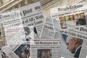 2008 Financial Crisis Headline Montage