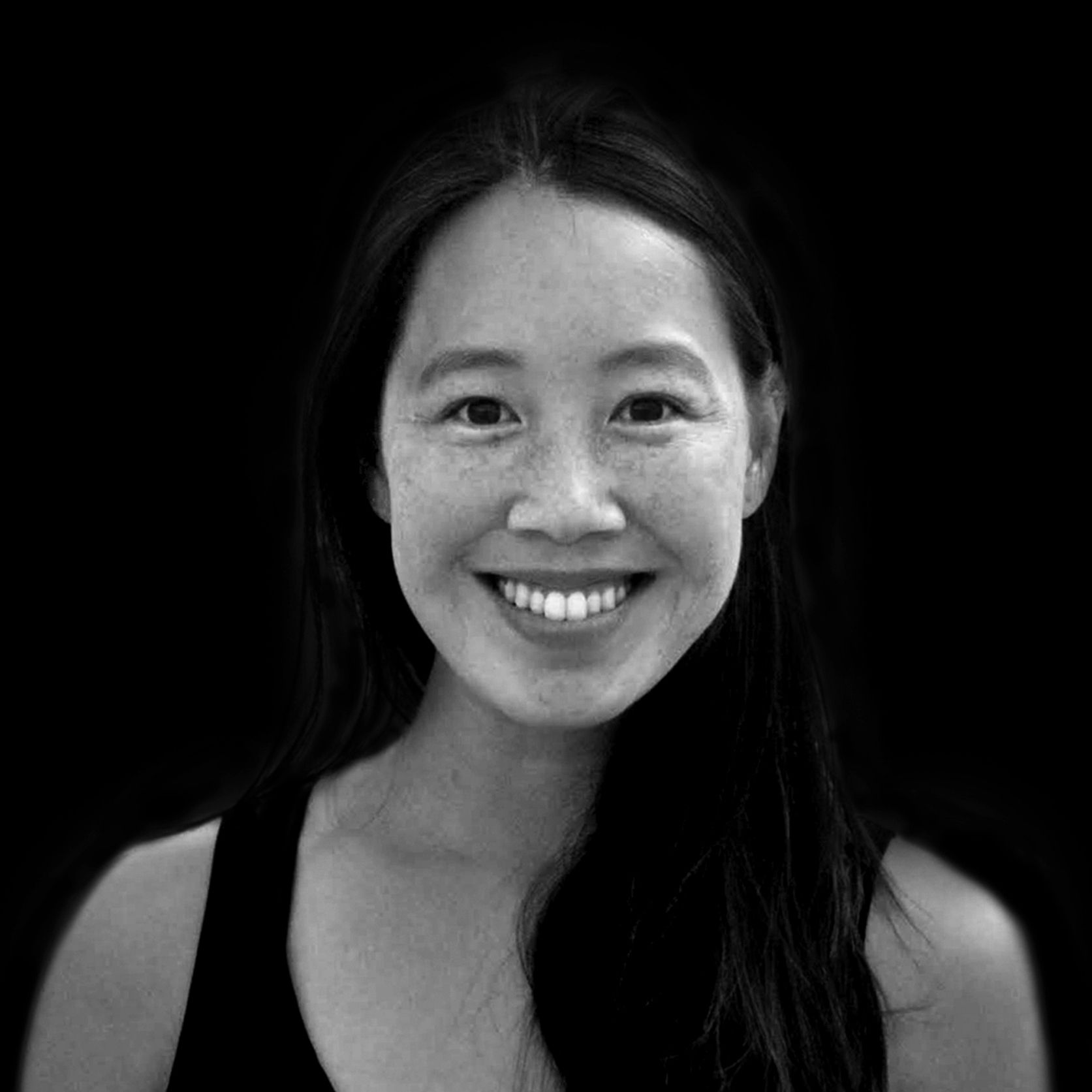 Joyce Chan Black and White Headshot