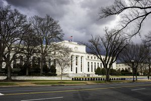 A photo of Federal Reserve headquarters in Washington.