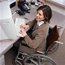 Disabled Businesswoman at Work