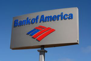 Bank of America Business Sign and Logo