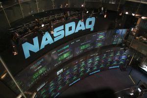 NASDAQ stock market displays at Times Square
