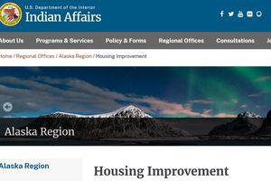Bureau of Indian Affairs website/Housing Improvement