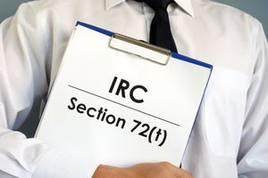 Manager is holding IRC Section 72(t) documents.