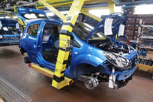 Cars on production line