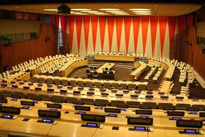United Nations Economic and Social Council chamber, New York City, NY