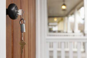 Key in front door