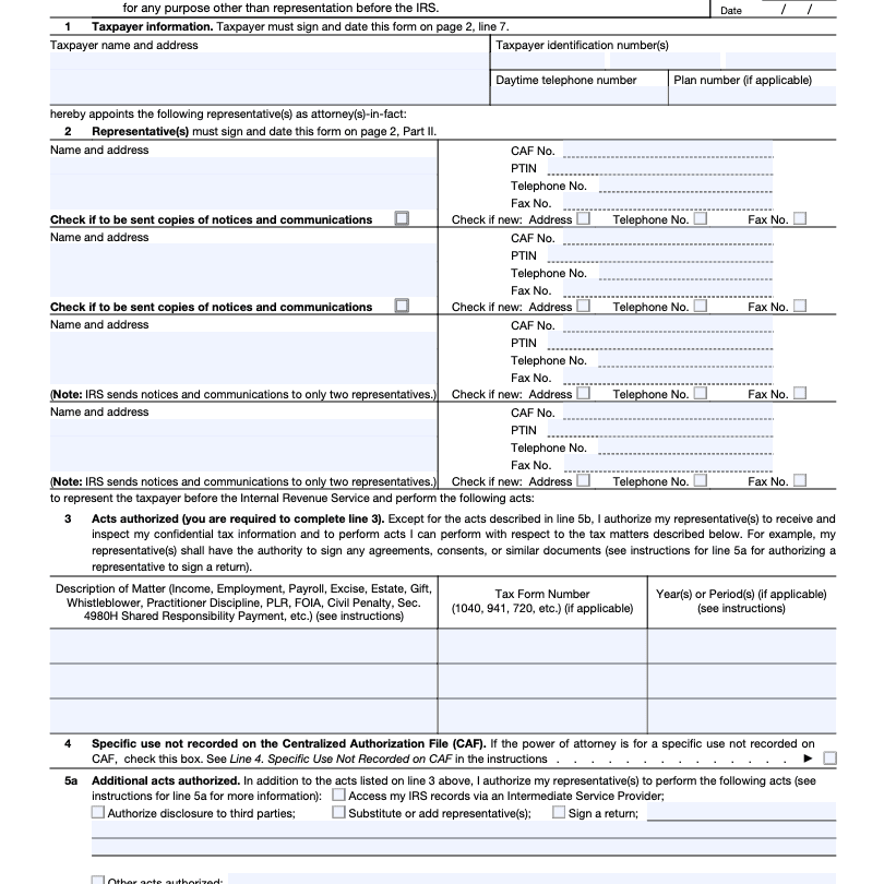 IRS Form 2848