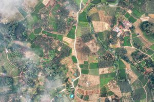 Drone photo of a agricultural land