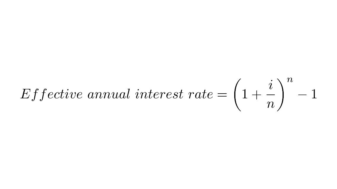 Stated Annual Interest Rate