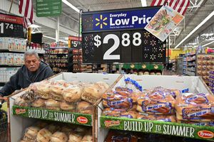Bread for sale at a Walmart Supercenter store