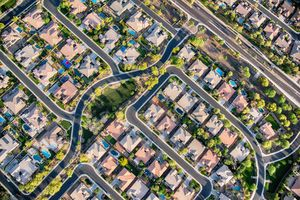 Residential Development Aerial of suburb homes