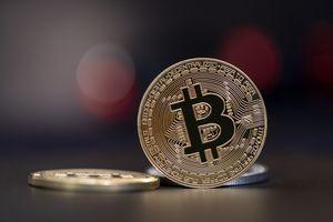 Bitcoins, copy space