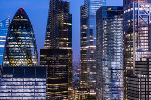 London skylight at night