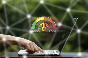 Credit Score Concept on Laptop