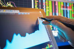 An investor analyzes a stock chart.