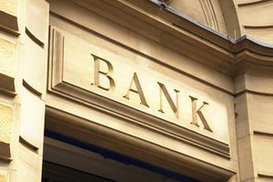 Image of bank building with the word