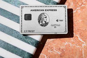 American Express Platinum card on display
