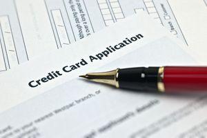 A credit card application.