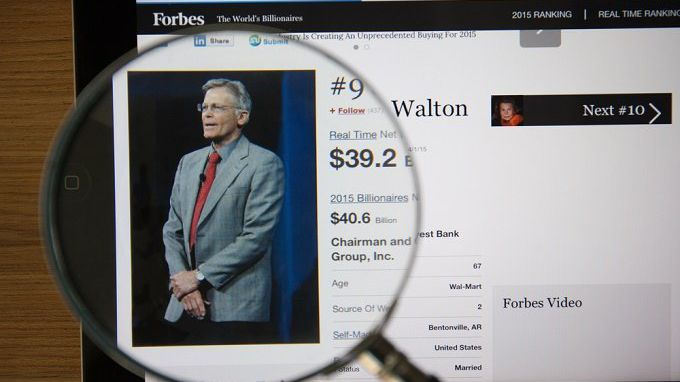 Top 10 of the Wealthiest Families in the World