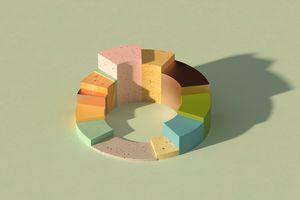 Multi-colored 3D Pie Chart