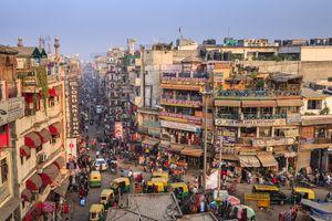 Street Scene of New Dehli India