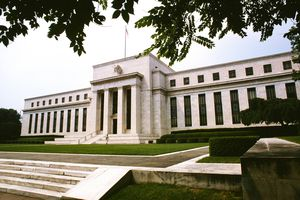 Low Angle View of a Government Building, Federal Reserve Building