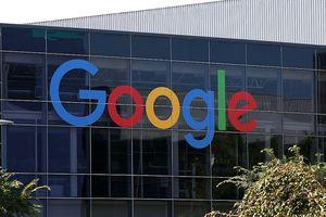 Google logo on glass building