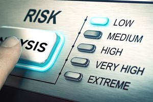 A risk analysis button set to low
