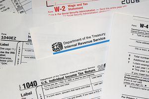 US Internal Revenue Service (IRS) tax forms