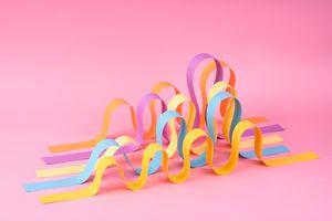 Wave Shaped Paper Stripes