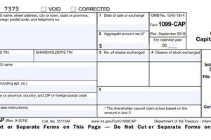 1099-CAP Form