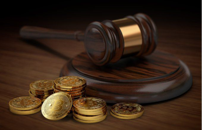 What is the legal concern about Bitcoin, and where can it be used legally?