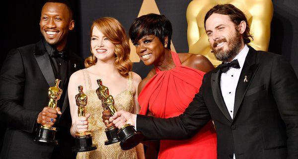 Mahershala Ali, Emma Stone, Viola Davis and Casey Affleck at the Oscars in 2017