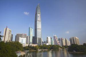 Modern Skyscraper, Kingkey 100 Finance Building, Shenzhen, Guangdong, China
