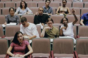 Students in a Classroom Auditorium