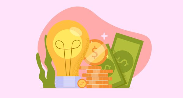 Fundraising crowdfunding illustration. Development of new business idea product launch