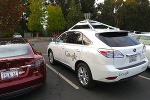 Lexus RX450h retrofitted by Google for its driverless car fleet