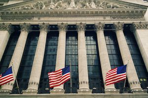 New York Stock Exchange at 11 Wall Street, Lower Manhattan, New York City