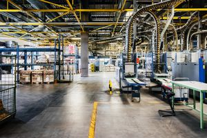 Packing line in a printery/factory