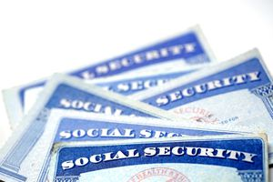 Social security cards for identification.