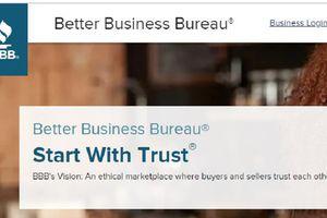 Better Business Bureau website