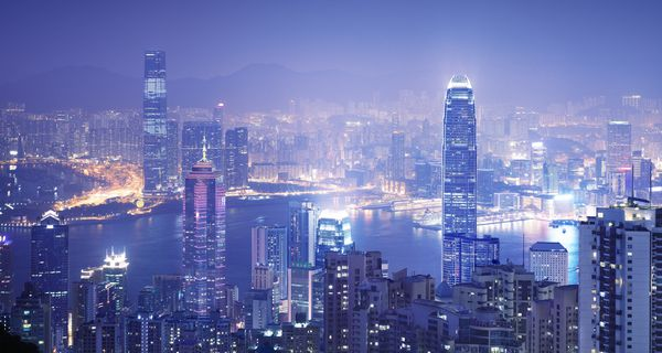 The Hong Kong skyline from The Peak.