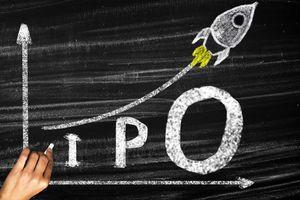IPO-Initial Public Offering written on a blackboard.