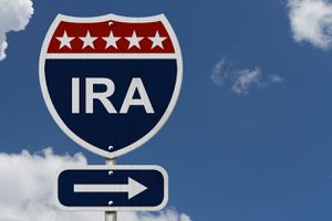 Sign with letters IRA on it