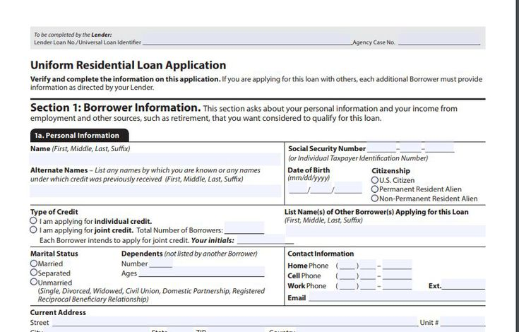 the 1003 mortgage application form
