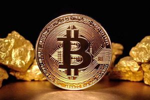 Image of Bitcoin and gold