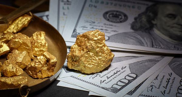 Image of gold and currency
