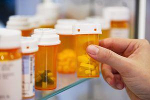 Prescription drugs on a shelf