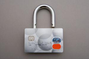 A credit card designed like a padlock